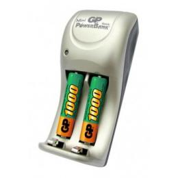 Зарядное устройство + аккумулятор GP PowerBank 2 шт AAA 1000мAч
