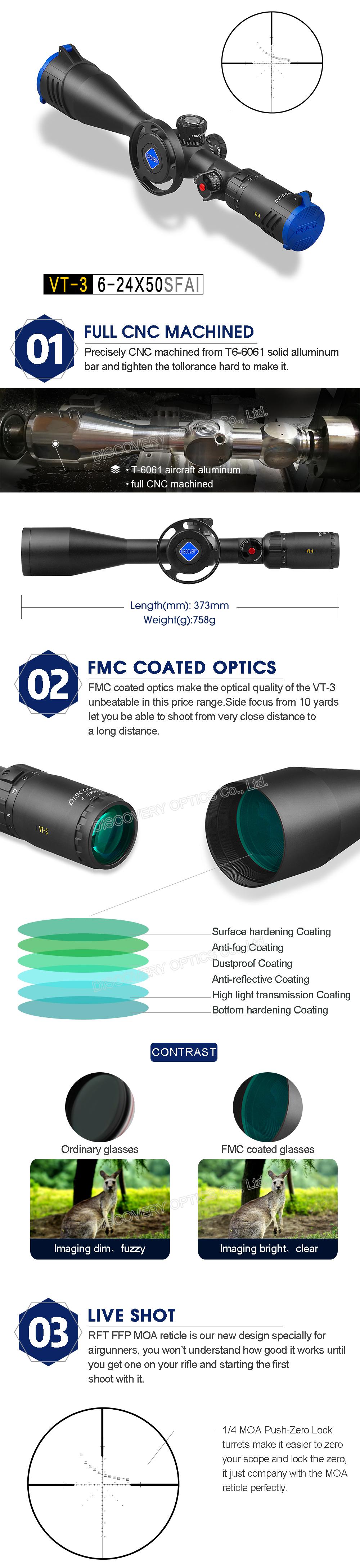 Прицел Discovery Riflescope VT-3 6-24X50 SFAI FFP