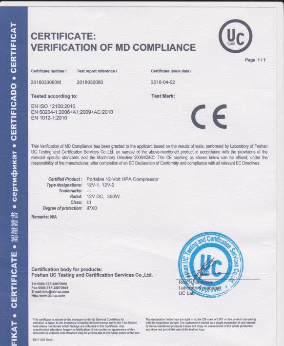 Портативный компрессор для заправки PCP